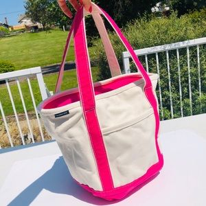 Land's End canvas tote bag purse